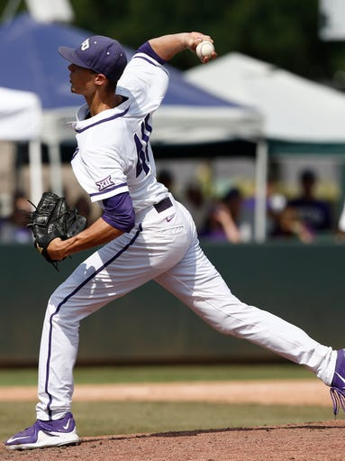 Tcu right handed pitcher trey teakell was selected