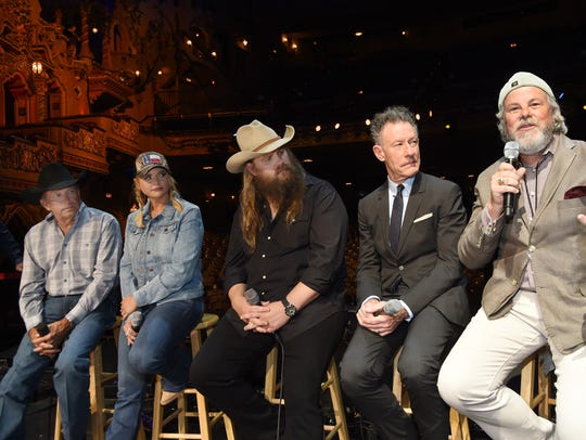 Country icon George Strait, left, was joined by musicians