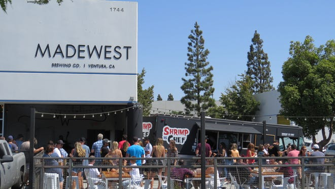The Shrimp vs. Chef food truck appears most Wednesdays and Sundays at MadeWest Brewing Co. in Ventura.