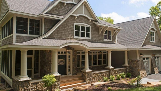 Shingle style homes first made their appearance in the 1890s as a stark contrast to Queen Anne design.