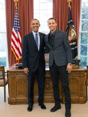 Steph Curry first met President Obama in February 2015