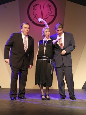 """""""Oh, Coward!"""" cast members (from left) Mike Loudon, Barbi-Jo Smith and Paul Bryan."""