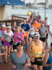 It doesn't get any better than running on the Riverwalk in downtown Stuart. The Treasure Coast Marathon winds through downtown, over bridges and through charming residential neighborhoods