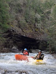 Class III and IV rapids are part of the lure of kayaking on Soak Creek.