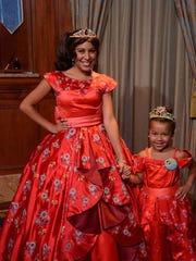 Ayla Jones celebrates her birthday with Princess Elena at Disneyworld.