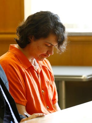 Miguel-Angel Oertel appears in Wood County court Monday Aug. 29, 2016, for sentencing in the shooting death Theresa C. Coates. Wood County Judge Greg Potter ruled Thursday that Oertel should have a new not guilty by reason of mental disease portion of his trial.