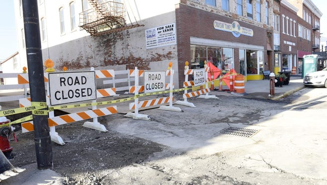 Construction continues on Madison Street in downtown Port Clinton.