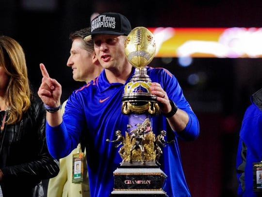 Boise State coach Bryan Harsin's director of recruiting,