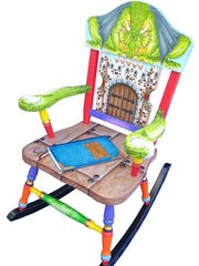 Pamela Smith has a unique line of handpainted, finely crafted children's rocking chairs.