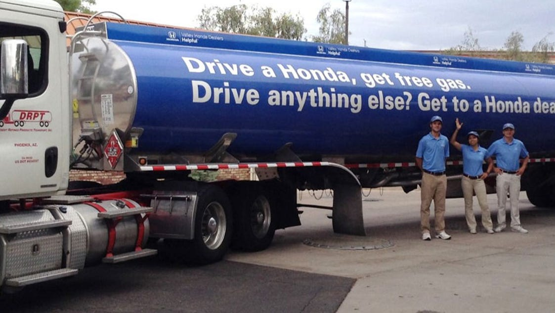 Free Gas For Honda Drivers In Chandler Gilbert