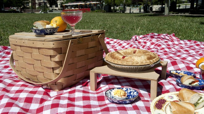 A picnic at Roger McGuire Green.