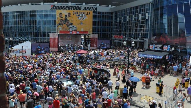 Bridgestone Arena ranks in the top 10 worldwide for concert ticket sales in the first half of 2015.