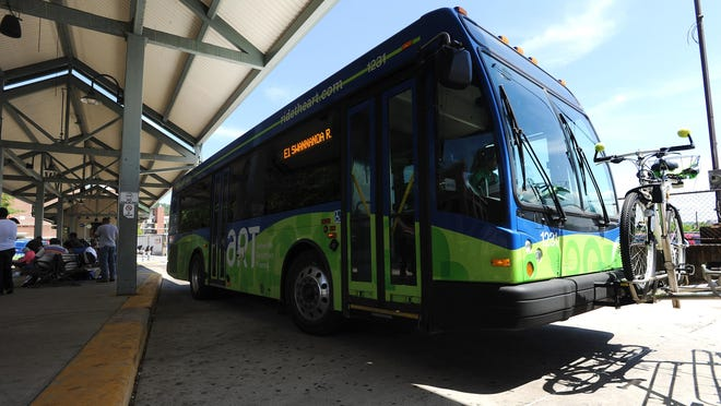 Asheville Redefines Transit operates a reduced schedule Monday.