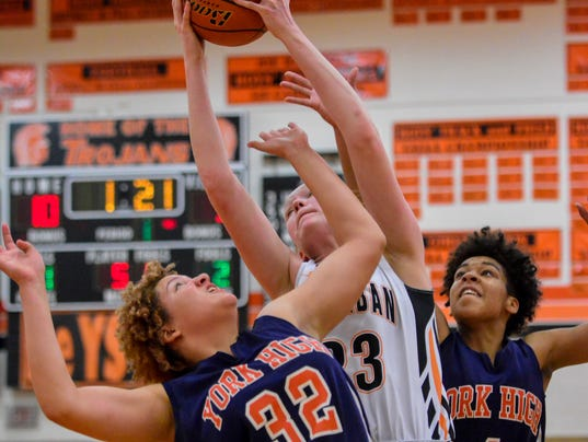 PHOTOS: York High vs York Suburban girl's basketball