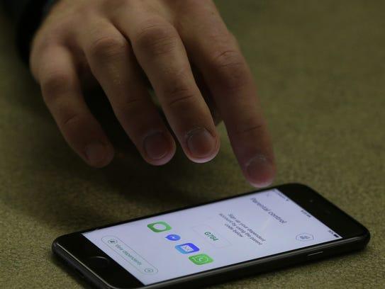 Dayne Rusch, UW-Oshkosh senior, has developed an app