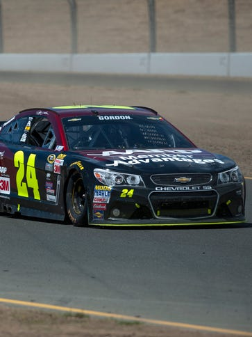 Jeff Gordon finished 16th in his final race at Sonoma