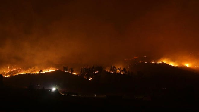 File photo of a wildfire.