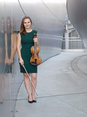 Emerson Millar, newly named co-concertmaster of the