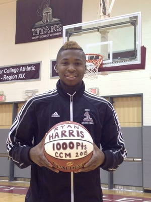 Randolph grad Ryan Harris reached the 1,000-point plateau at County College of Morris.