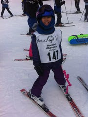 Marshall's Maya Holt at the 40th annual Special Olympics Michigan Winter Games.