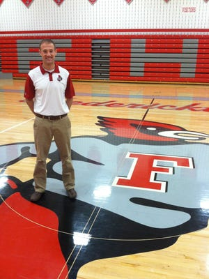 Fredericktown boys basketball head coach Derek Dibling.
