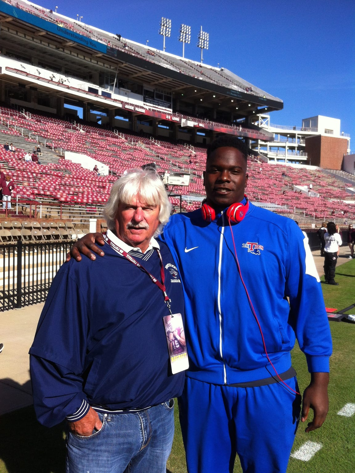 Vernon Butler, right, is pictured with Billy Coon,