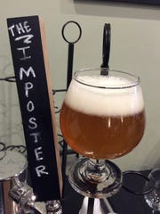 Imposter glass and tap.