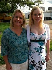 Kris Cahak poses with her daughter Morgan Pieper.