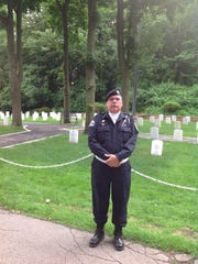 Frank Wilson, who played Taps at the annual Memorial