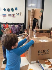 How tall can you build? Gather boxes, rolls and more,