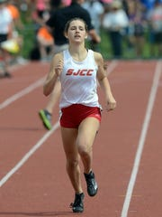 SJCC's Miranda Wammes competed in the 400 and 4x400 at state last season.