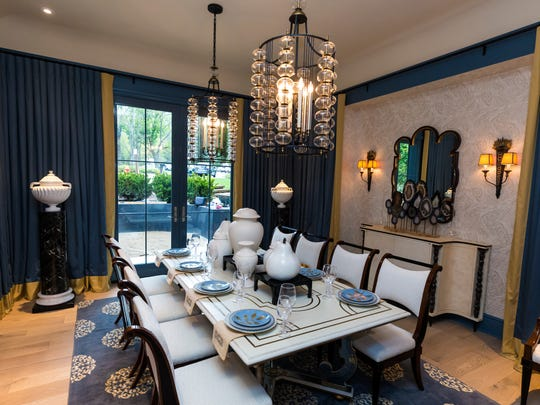 Interior photo taken in the O'More showhouse Tuesday