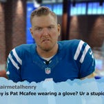 Colts punter Pat McAfee was one of six players to read aloud Mean Tweets on the team's video posted Tuesday.