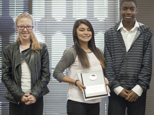 Isabella Cass, left to right, Rebecca Fernandez and Travan Richards.