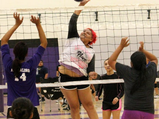The Mescalero Apache School Lady Chiefs open up the