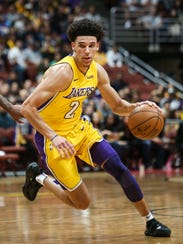 Lakers rookie guard Lonzo Ball has a lot expected of
