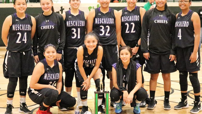 The Mescalero girls' basketball team won the Mountain Top tournament title Saturday evening in Cloudcroft.