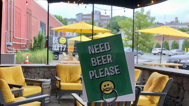 If you need a beer at Wormtown Brewery, just put up a sign.