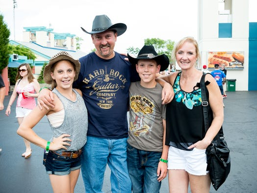 Maia Czarnecki, John Czarnecki, Cade Czarnecki and Shelia Lubansky at Riverbend for the Tim McGraw concert on June 29.