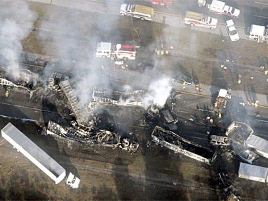 70 cars crash on Interstate 4