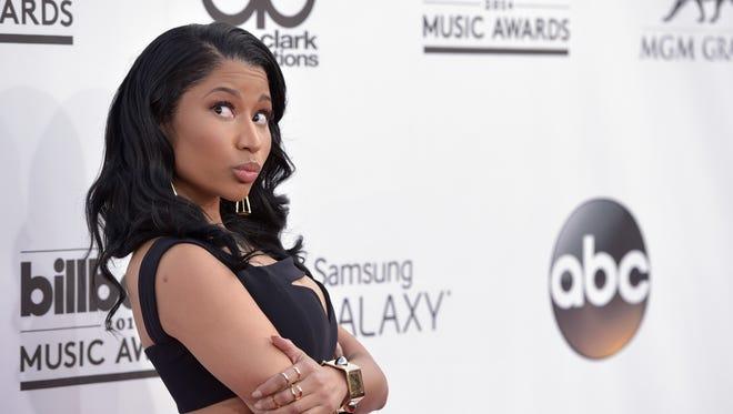 Nicki Minaj arrives at the Billboard Music Awards at the MGM Grand Garden Arena on Sunday, May 18, 2014, in Las Vegas. (Photo by John Shearer/Invision/AP)