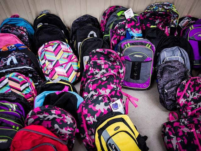 Area roundup: School supplies needed for Tools for School giveaway
