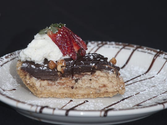 A peanut butter pie dish tops off the evening at The