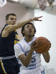 Toms River North's Sean O'Donnell tries to block shot