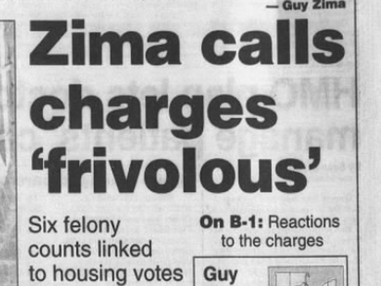 A headline in the Press-Gazette from Dec. 22, 1995.
