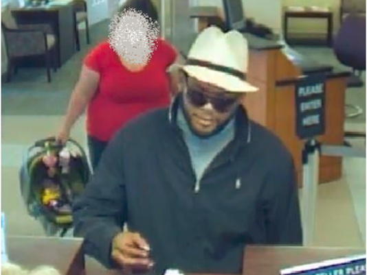 Maryland State Police are looking for the man in this photo following a bank robbery that occurred in Carroll County on Wednesday.