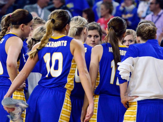The SDSU Jackrabbits get ready to take on USD in Tuesday's