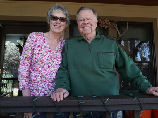Bob Blankenship and his wife Jean at their home in Redding.