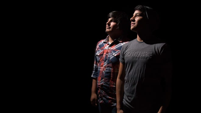Dario Gaspar (left), 23, and  18-year-old George Chavez hope to attract viewers to their YouTube channel, Milvera.