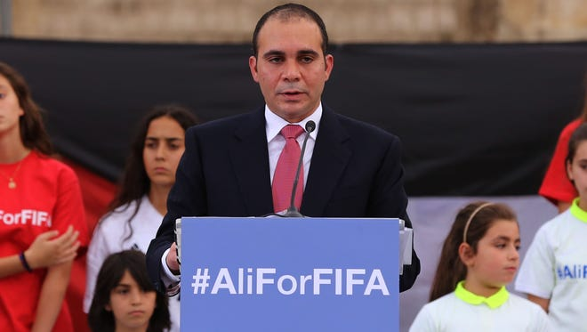 Jordan's Prince Ali bin al-Hussein is one of the five declared candidates that FIFA announced Thursday, Nov. 12, 2015 for the Feb. 26 election.